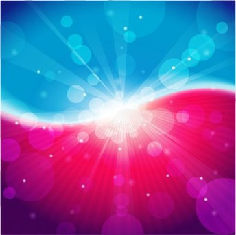 Abstract Light Blue Pink Bokeh Background