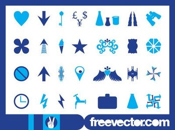 Blue Icon & Symbol Pack