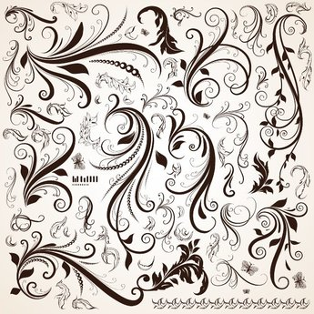 FLORAL ORNAMENTAL VECTOR DESIGNS.eps