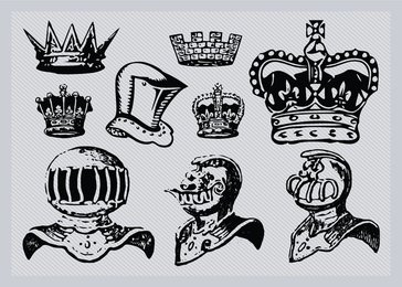 Helmets And Crowns