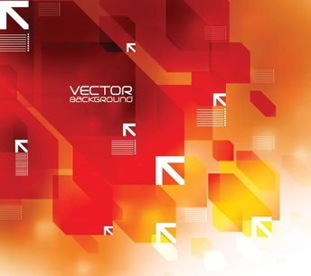 Abstract Red Background Vector with Arrows (Free)