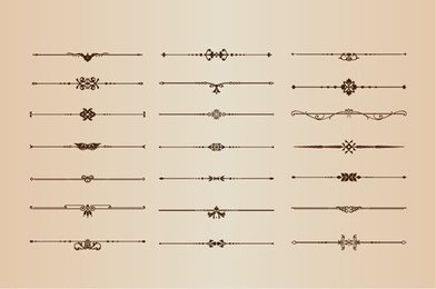 Vector Set of Page Decoration Elements
