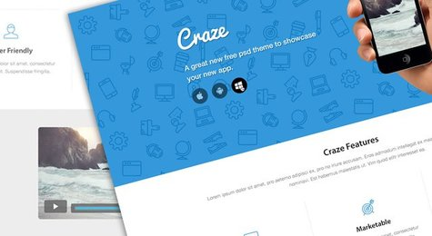 Craze Trendy Landing Page Website design
