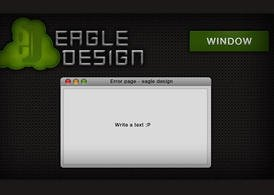 E.D. background, buton, logo and an apple window