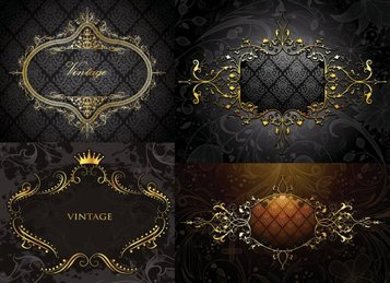 European Gold Border Shading Pattern Vector Material European Patterns Borders