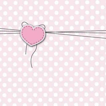 Cute Love Greeting Card Heart Background