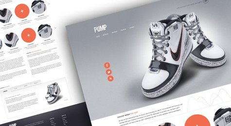 Pump - A free website psd template