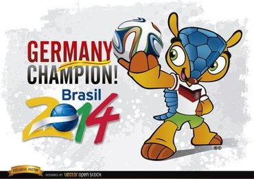 Germany Champion Mascot Brazil 2014