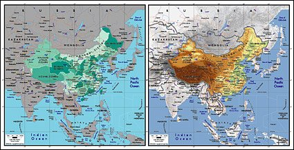 Vector map of the world exquisite material - the map of Chin