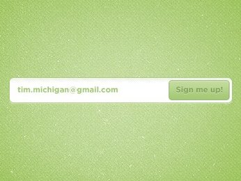 Cool Green Signup Form