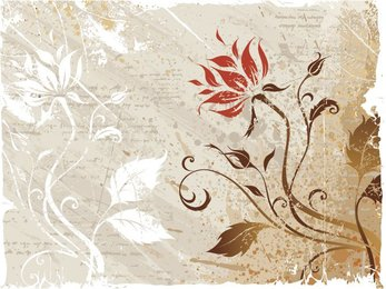 Grunge Floral Background (Free)