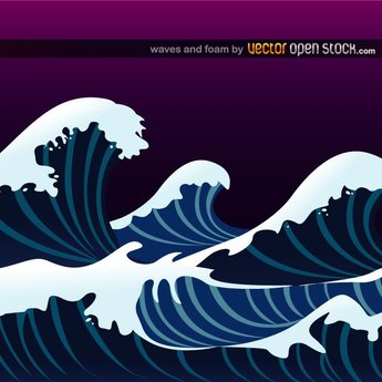 OCEAN WAVES VECTOR ILLUSTRATION.ai