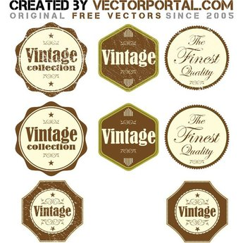 VINTAGE GRUNGE VECTOR STICKERS.eps