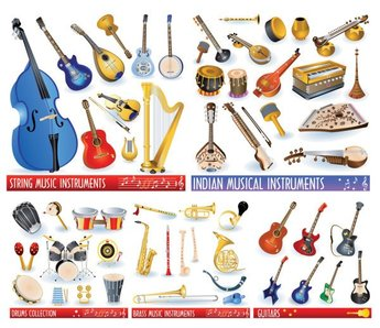 Vector material of various musical instruments