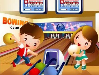 Children's bowling motion