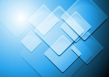 Blue Square Abstract Background Vector Illustration Art