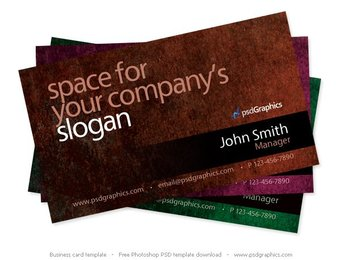 Grunge business card Photoshop template
