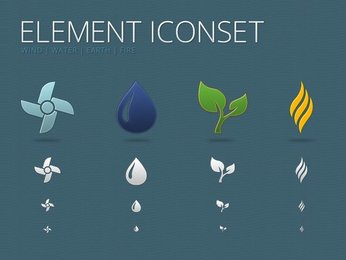 Elements Icon Set