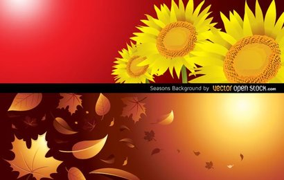 Free Vector Autumn and Summer