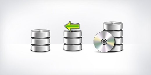 Database Backup Icons (PSD & PNG)