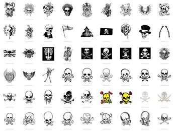 The trend of skull series vector material -1 (54)