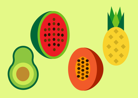 Free Fruits Vector Set