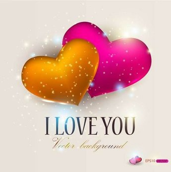 Exquisite Valentine's Day greeting card vector-4