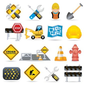 fine vector construction traffic