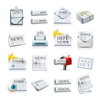 Newspaper Icon Vector Material Newspaper