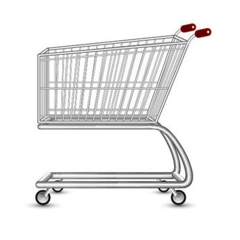 Realistic 3D Shopping Cart