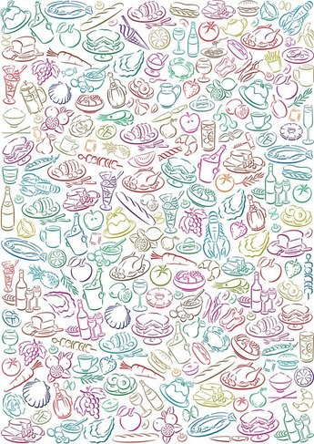 Vector Food Pattern