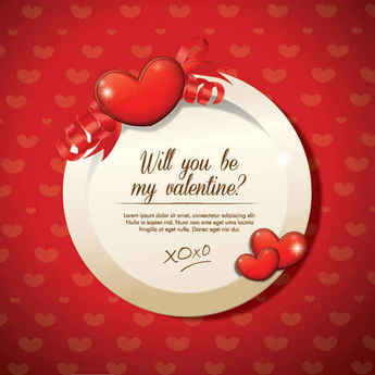 Valentines Design Vector Graphic Background