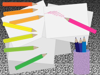 Free Colored Pencil Vector Art
