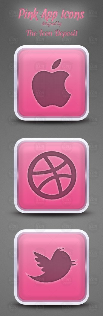Pink App Icons