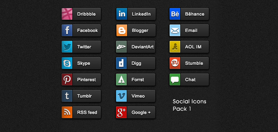 Social Share Buttons Pack