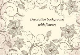 Decorative background with flowers vector art