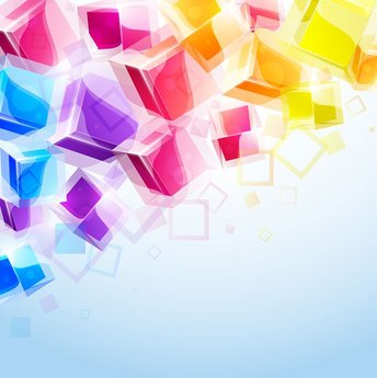 Abstract & Colorful 3D Cubes Vector Background (Free)