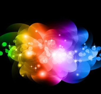 Abstract Colorful Glowing Background
