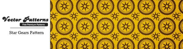 Star Gear seamless vector And Photoshop Pattern