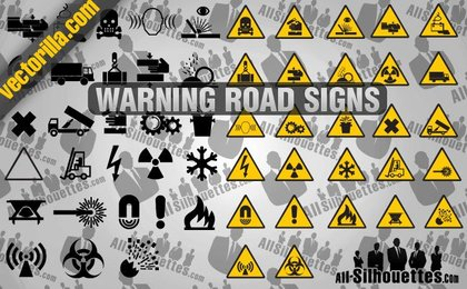27 Warning Road Signs