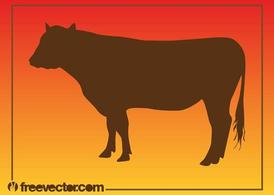 Cow Silhouette Graphics