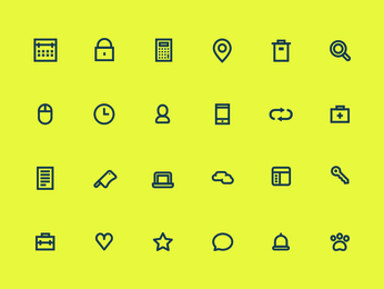 [PSD] 24 Icons