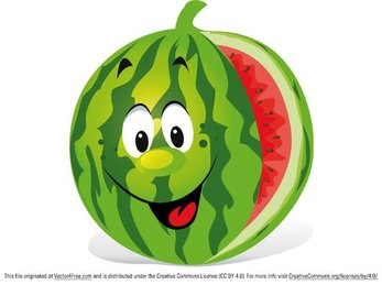Cartoon Watermelon
