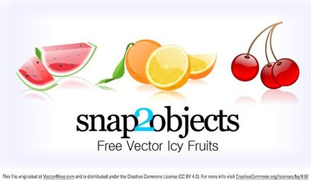 3 Free Vector Icy Fruits