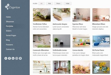 Caprice Free Homepage Blog PSD Template