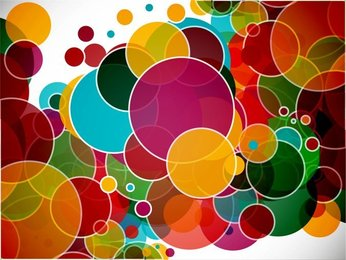 Colorful Circles Abstract