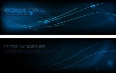 Midnight Blue Template Banner Layout