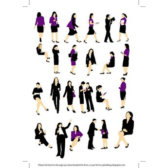 BUSINESSWOMEN VECTOR SILHOUETTES.eps
