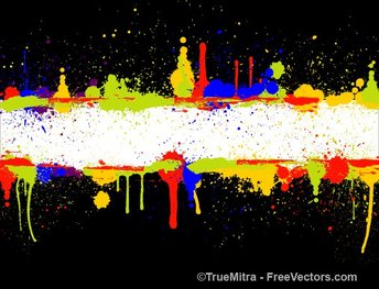 Colored Splatter Banner