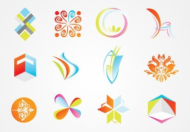 Logo Template Vector Elements & Decorations (Free)